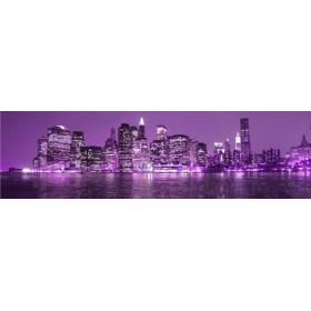 26215762-L / Cuadro Nueva York lila 04 140 x 40