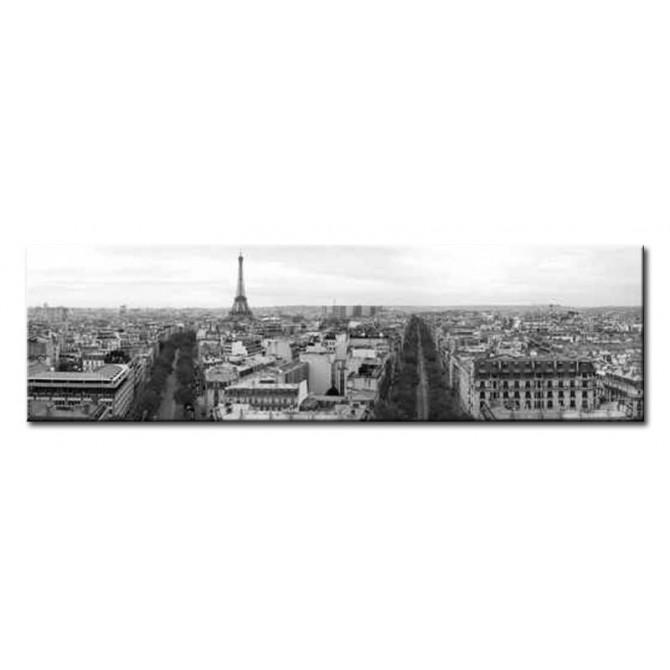14396139 / Cuadro Torre Eiffel vista panorámica 140 x 40