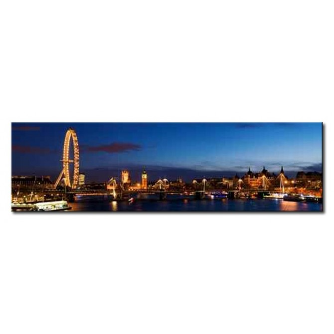 12475795 / Cuadro London panoramic ,including Big Ben and Houses of Parliament 140 x 40
