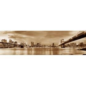 10111095-S / Cuadro Puente de Brooklyn y New York 140 x 40