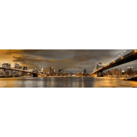 10111095-N / Cuadro Puentes de Brooklyn y New York 140 x 40