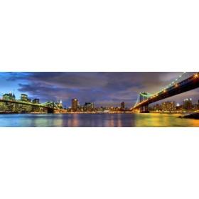 10111095 - Cuadro Puentes de Brooklyn y Nueva York 140 x 40