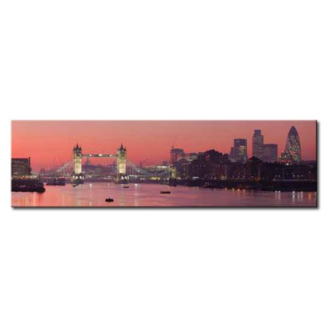 9390405 / Cuadro Tower Bridge and city of London with deep red sunset 140 x 40