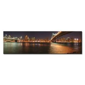 2737568_X / Cuadro New York y puente Brooklyn noche 140x40