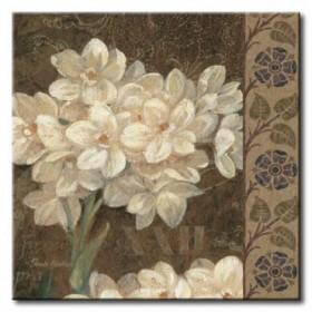 GLA-515_Petit Jardin Square II / Cuadro Flores Blancas