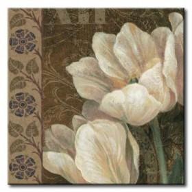 GLA-514_Petit Jardin Square I / Cuadro Flores Blancas