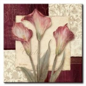 GLA-457_Trio Sonata I / Cuadro Flores sobre fondo Vintage