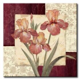 11_GLA-460_Trio Sonata IV / Cuadro Flores sobre fondo Vintage
