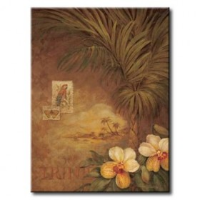 GLA-308_West Indies Sunset II - Cuadro Flores Tropicales estilo Retro