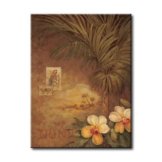 GLA-308_West Indies Sunset II - Cuadro Flores Tropicales estilo Retro