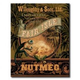 GLA-343_Nutmeg / Cuadro Vintage, Cartel Especias Exoticas
