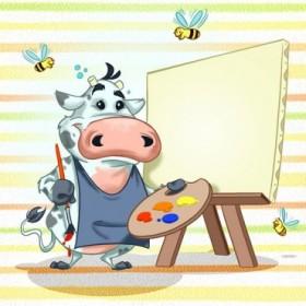 T27b / Cuadro La vaca pintora