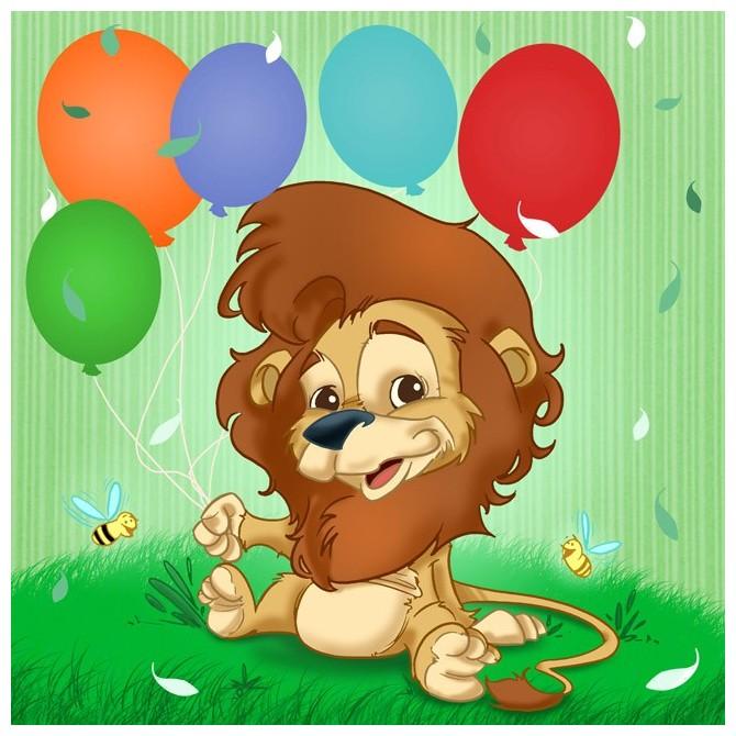 T25b / Cuadro El león y los globos
