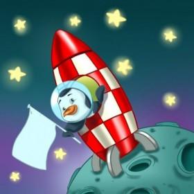 T9b / Cuadro El pingüino astronauta