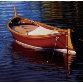 12373 / Cuadro Pequeña Barca Rosa