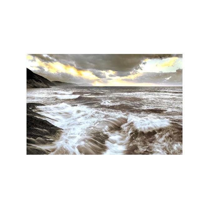 JAP842 Cuadro Mar con luz crepuscular