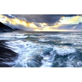 JAP839 Cuadro Mar con luz crepuscular