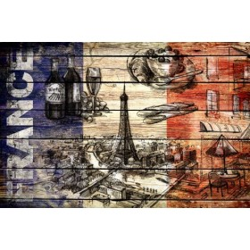JHR-Cuadro Bandera - Francia Collage 03.02