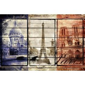 JHR-Cuadro Bandera - Francia Collage 02.02