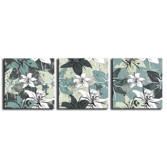 Cuadro Flores Vintage Verde