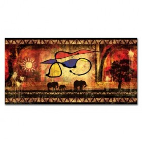 LH-2046 Cuadro Abstracto con Elefantes