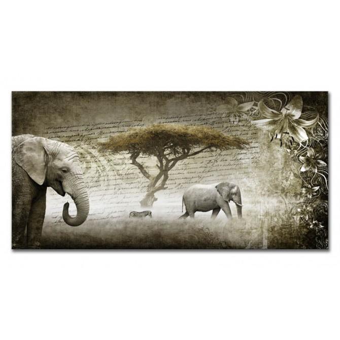 LH-2033 Cuadro Collage Elefantes
