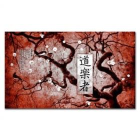 LH-2007 Cuadro Kanji Libertine Rojo