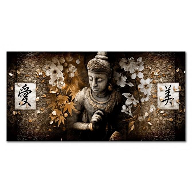 LH-2024 Cuadro Buda - Kanji Love and Beauty Ocre