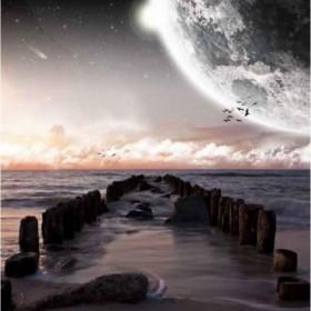 20764928 / Cuadro Paisaje planetario visto desde la playa