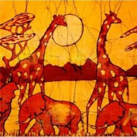 3249449 / Cuadro Batik africano