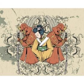41706554 / Cuadro Geisha con samurais