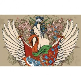 41706531 / Cuadro Geisha con alas