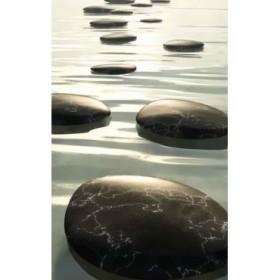 40432479 / Cuadro piedras escalonadas negras