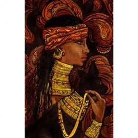 39076764 / Cuadro mujer tribu
