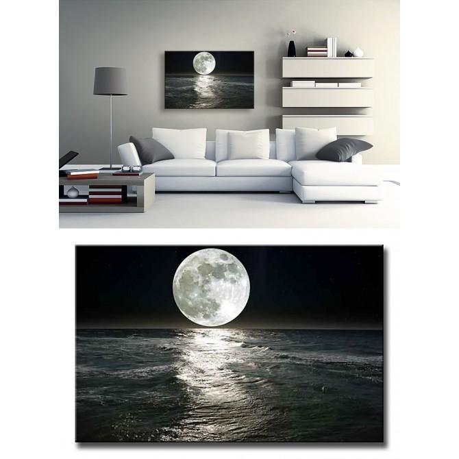 15058099 / Cuadro Mar con Luna