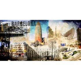 Cuadro Barcelona Collage 01