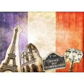 34002405 / Cuadro Collage vintage Paris