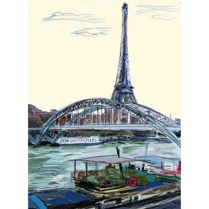 39848689 / Cuadro Torre Eiffel, París ilustración