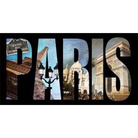 40253804 / Cuadro Letras París collage