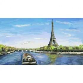 40520504 / Cuadro París, Torre Eiffel ilustración