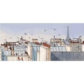 35127412 / Cuadro Paris panóramica tejados