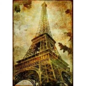 9885838 / Cuadro Torre Eiffel Vintage