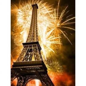 27777146 / Cuadro Torre Eiffel y fuegos artificiales