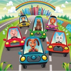25071797 / Cuadro Traffic on the Road