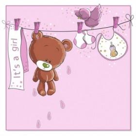 26144106 / Cuadro Baby bear hanging GIRL
