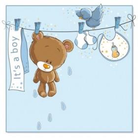 900117 / Cuadro Baby bear hanging BOY