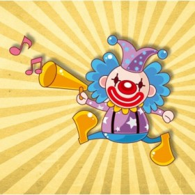 35053983 / Cuadro Payaso músico