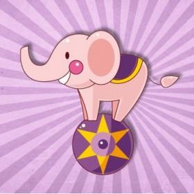 35053983 / Cuadro Elefante circo