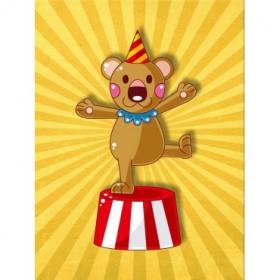 35053983 / Cuadro Osito circo