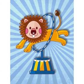 35053983 / Cuadro León saltando en el circo